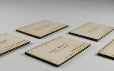 Case study: wooden business cards