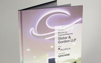 Hardback presentation book – designed and printed in two days!
