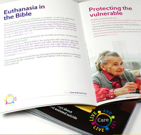 Charity printing and design project for Care UK