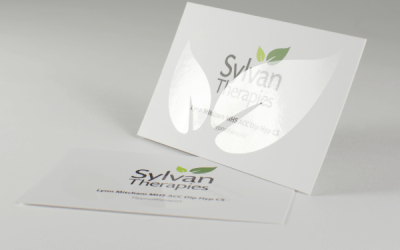Case study: silk leaflets and spot UV business cards