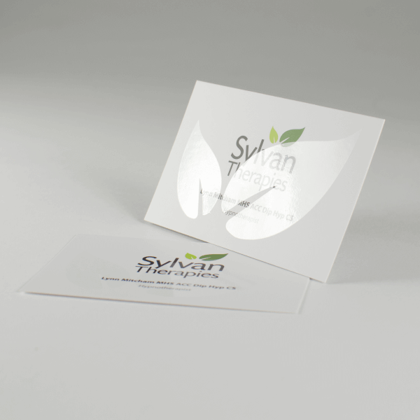 Case study: silk leaflets and spot UV business cards