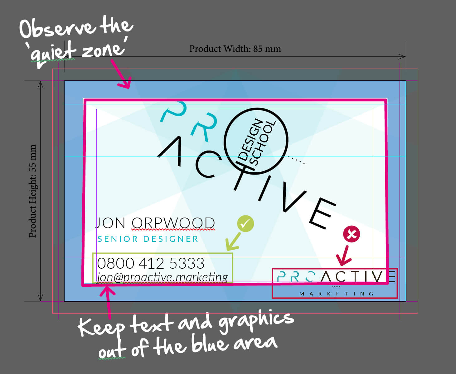 Designing Business Cards - The Quiet Zone