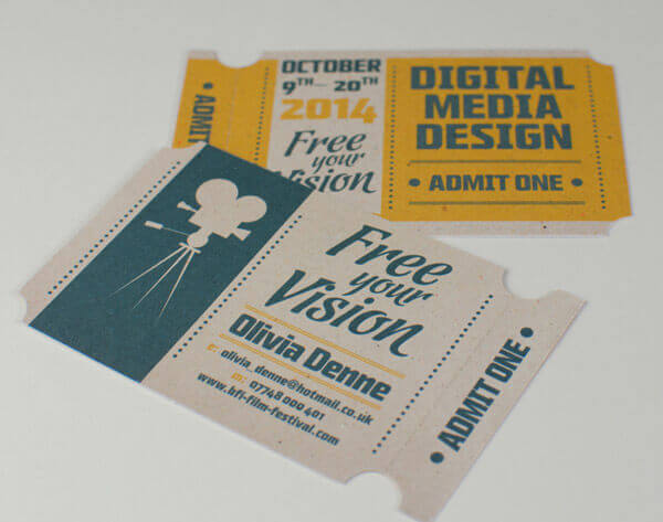 Perforated business cards – just the ticket!