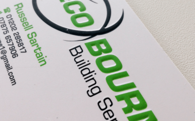Embossed business cards make a real impact for Eco Bourne