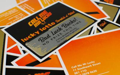 Printing bespoke scratch cards