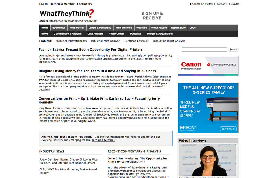 Printing Blogs What They Think