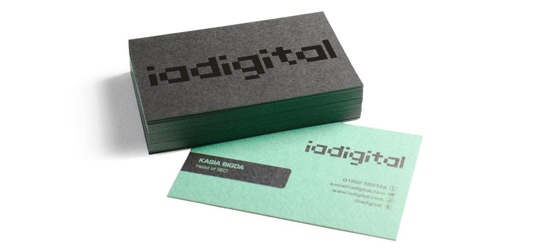 Print company project: IA Digital Duplex Business Cards