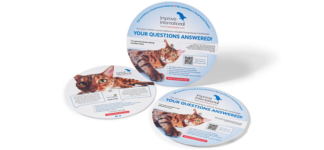 Innovative wheel chart design for veterinary sector client