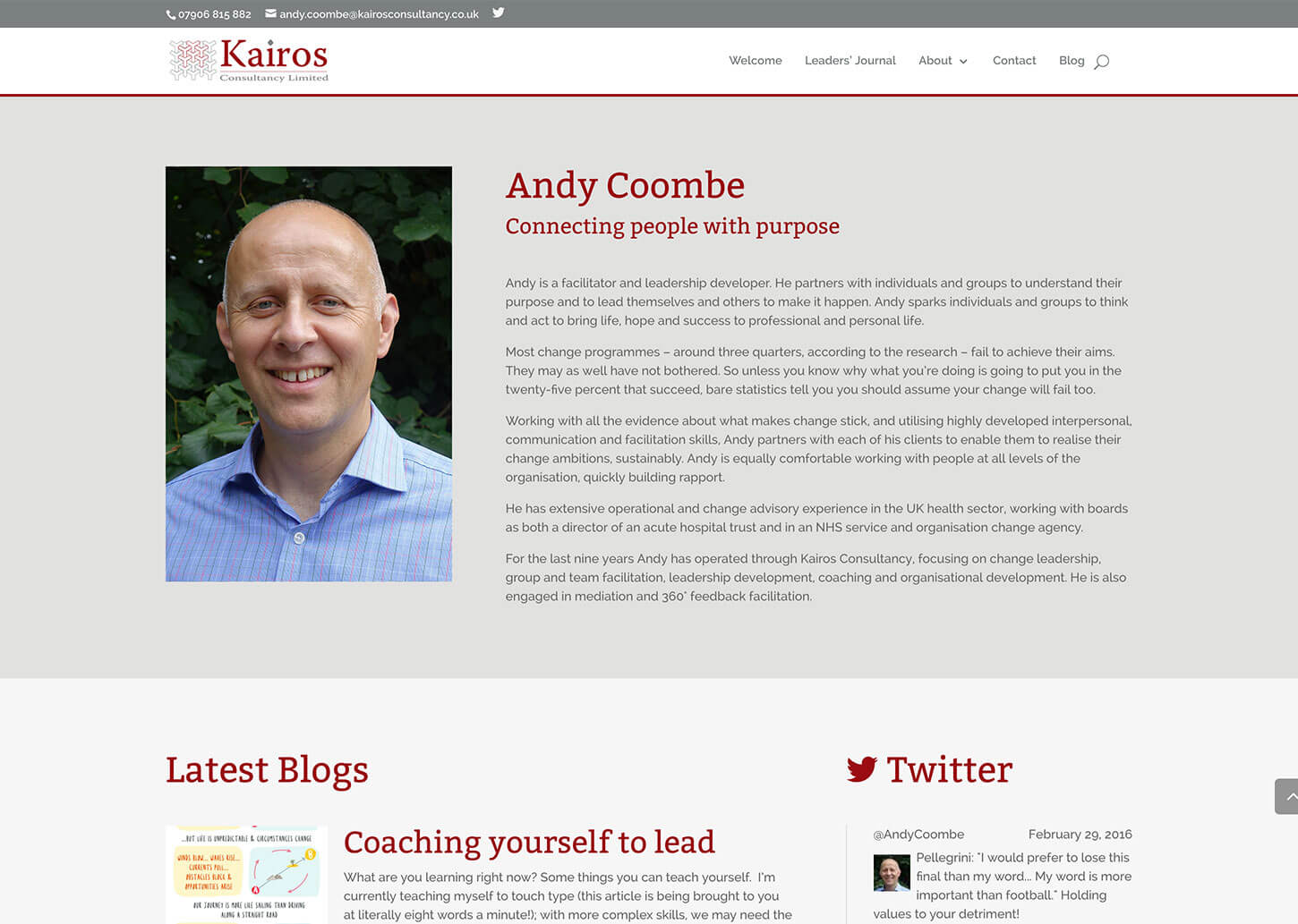 Responsive consultancy company website design and blog