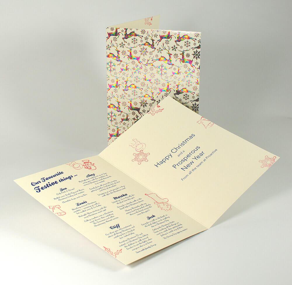 Christmas Card Printing - Final printed christmas card design