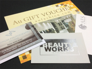 special print finishes - foiling