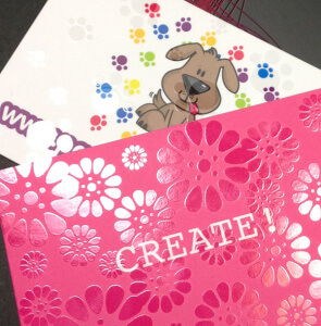 special print finishes - spot uv or spot gloss highlights