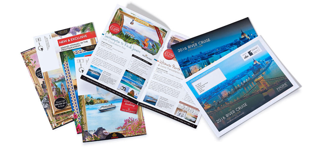 Print company project: Imagine Cruising printing and direct mail