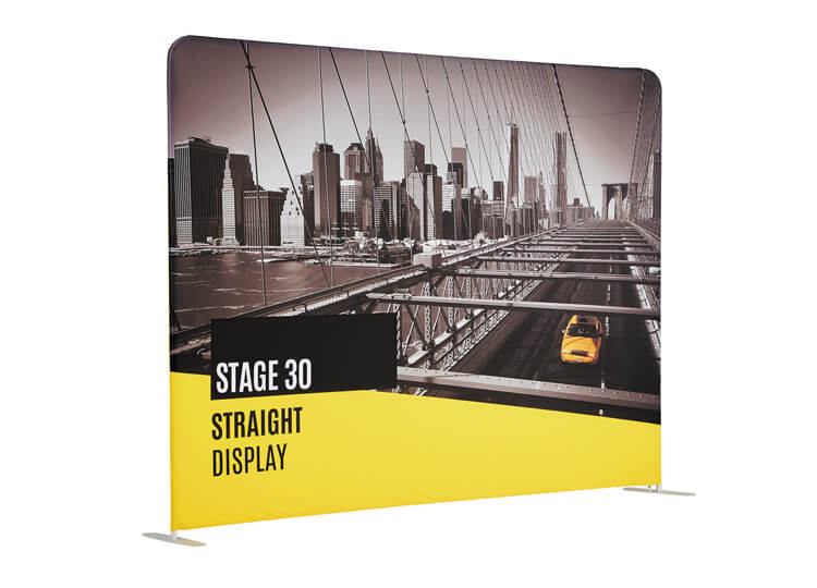 Fabric exhibition display stands - Stage 30 - 2.3m x 2.9m