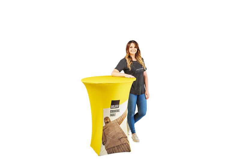 Fabric exhibition table - Mojito - 1.1m x 0.8m