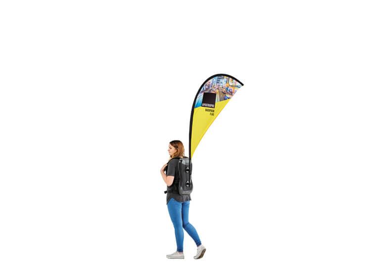 Fabric exhibition flag - Apostrophe - 1.2m(h) x 0.67(w)