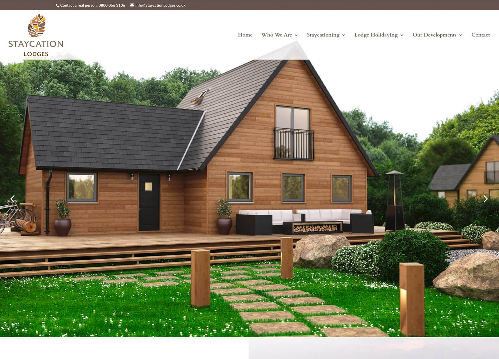 holiday resort website - home page