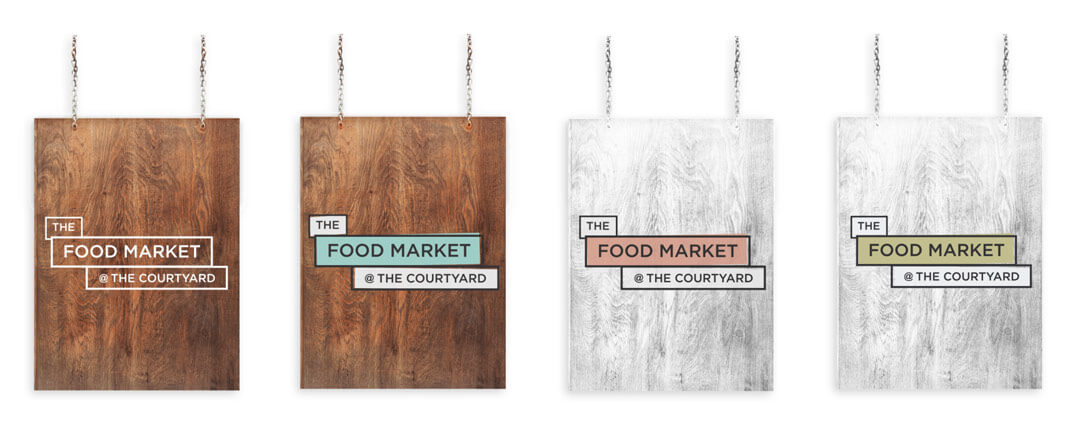 Gatefold Brochure - Food Market Branding