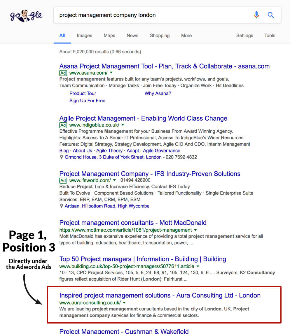 google position - project management company london - project management company website
