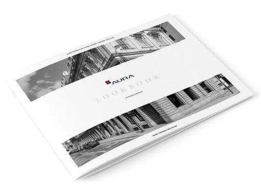 New digital lookbook design (digital brochure) for Aura Consulting