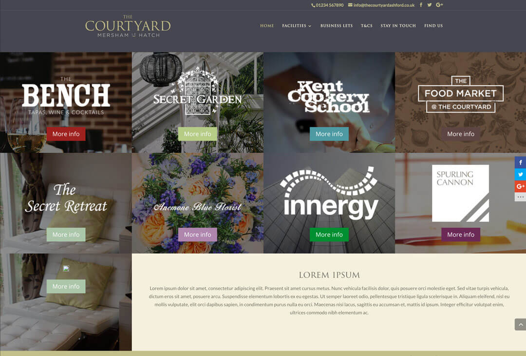 The Courtyard - homepage