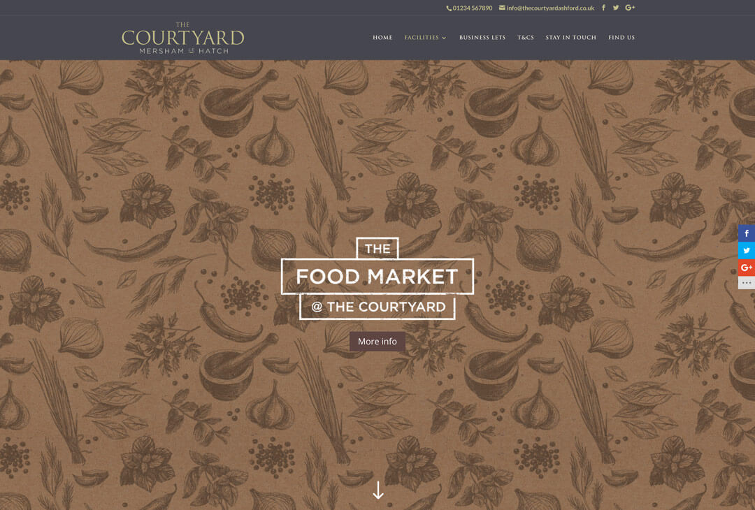 The Courtyard - Food Market page