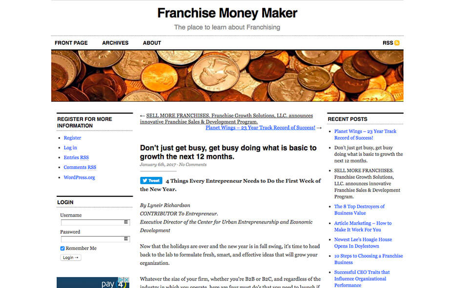 Franchise Marketing Blogs The Franchise Money Maker