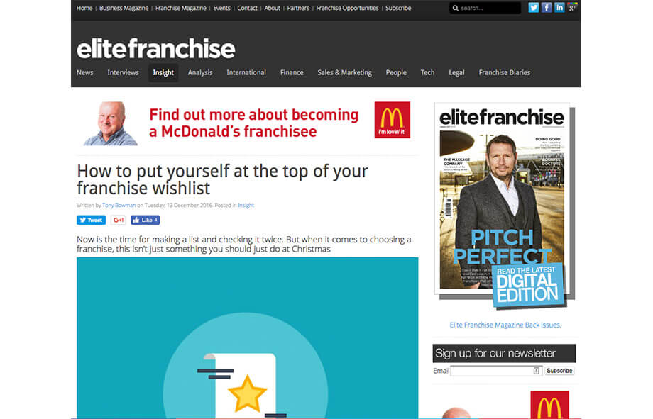 Franchise Marketing Blogs Elite Franchise Magazine