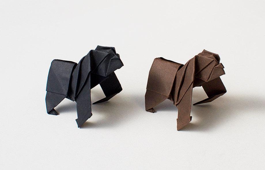Premium Paper Origami Apes