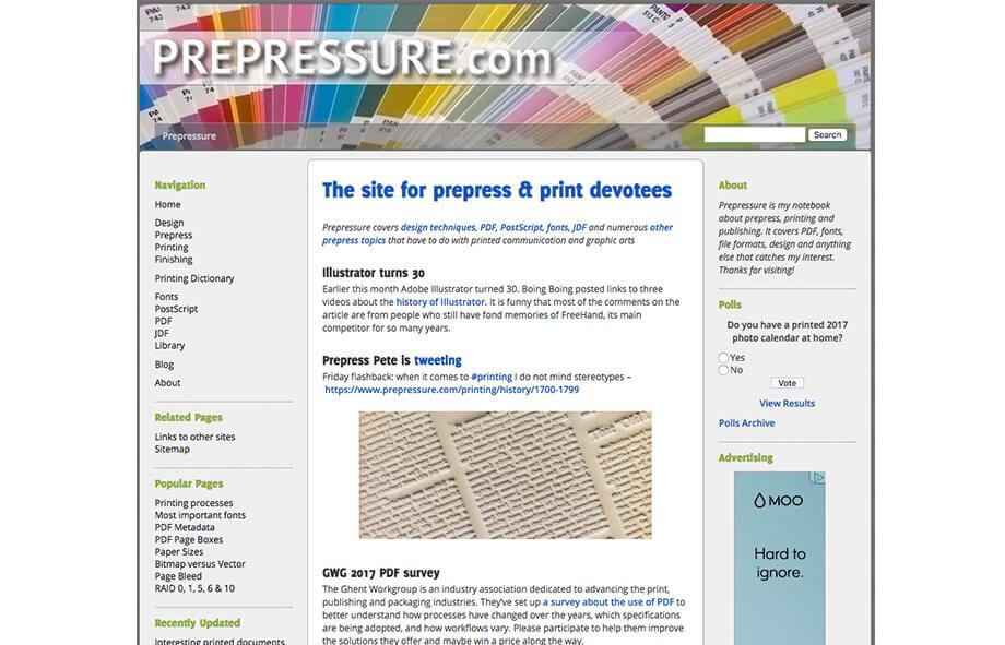 Printing Blogs Prepressure