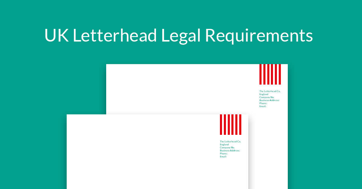 uk letterhead legal requirements