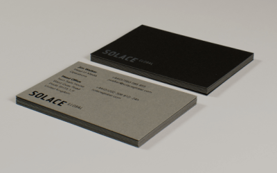 Case study: high quality duplexed business card design