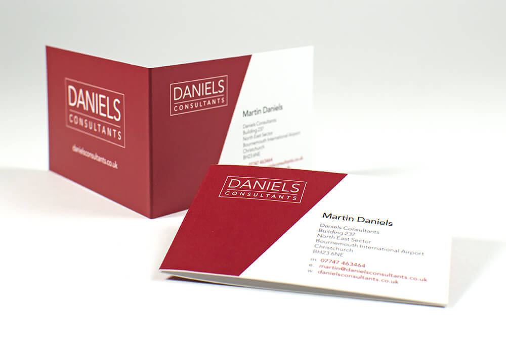 Folded business cards are awesome customer brochures
