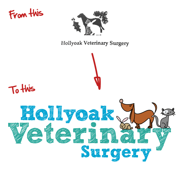 veterinary logo rebrand
