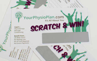 www.yourphysioplan.com scratch card design drives customers to their website