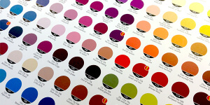 Designing business cards: Colour chart
