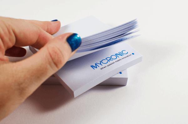 Promotional Printing - Mycronic sticky note pads