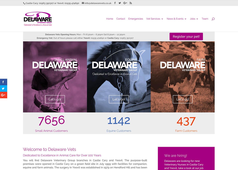 User friendly vet website: Home page design