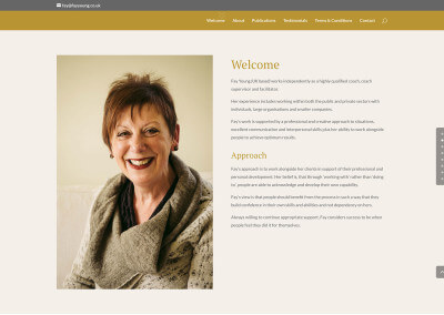 Quick website design for local self-employed consultant