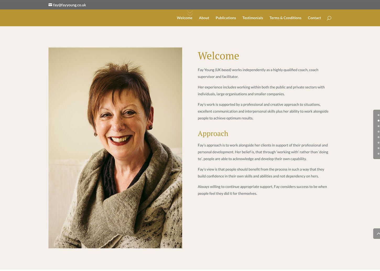 Quick website design for local self-employed consultant