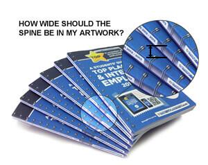 Brochure design tip: calculating brochure spine width