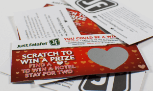 printed scratch cards