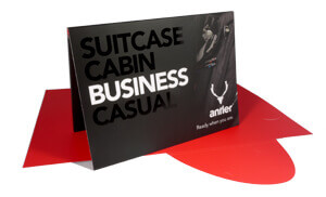 Printed presentation folders for Antler - Spot UV/ Matt Laminated