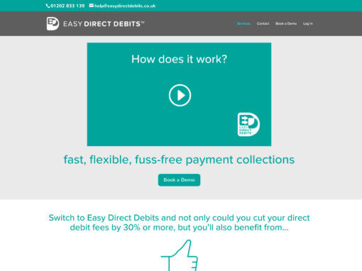 Financial website design project for Easy Direct Debits