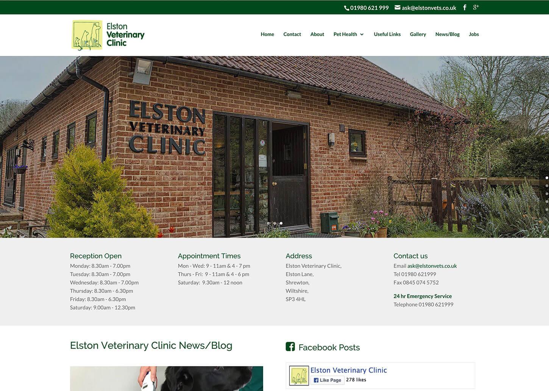 A new veterinary website design for Elston Vets
