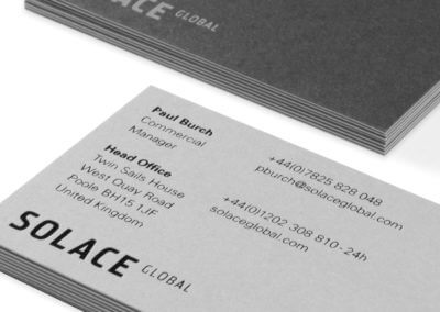 Luxurious, opulent, duplexed and foiled business cards