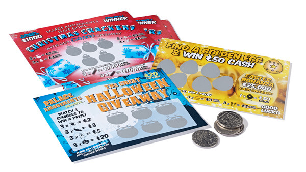 scratch card marketing - amusement arcade scratch cards