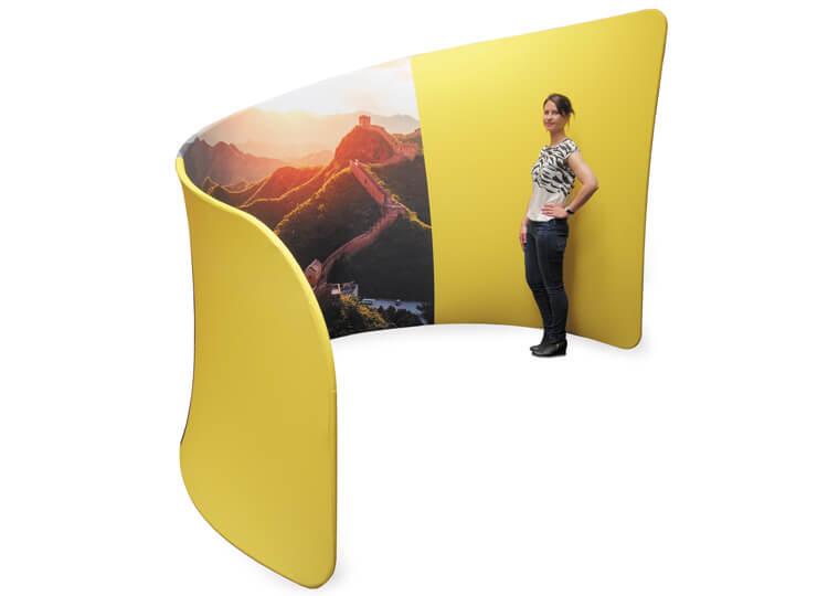 Fabric exhibition display stands - Huddle fabric booth - 2.3m (h) x 3.2m (w) x 2m (d)