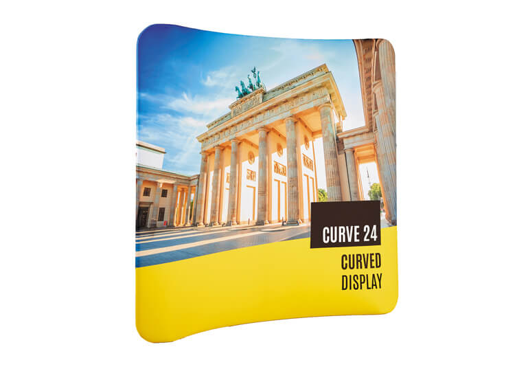 Fabric exhibition display stands - Curve 24 - 2.3m x 3.0m