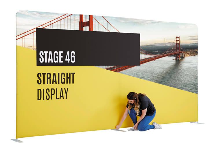 Lightweight display stand - Stage 46 - 2.3m x 4.6m